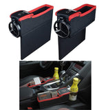 2pcs (1 set) Car Seat Gap Organizer with Cup and Coin Holder