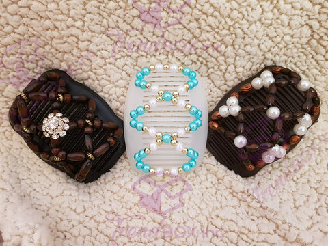 PREMIUM SET of Handmade InstaStyle Clip - Sea Pearls
