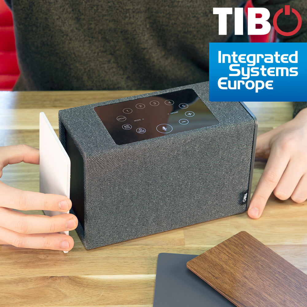 ISE 2019: TIBO Audio Presents Kameleon Touch Speaker Product With Amazon Alexa