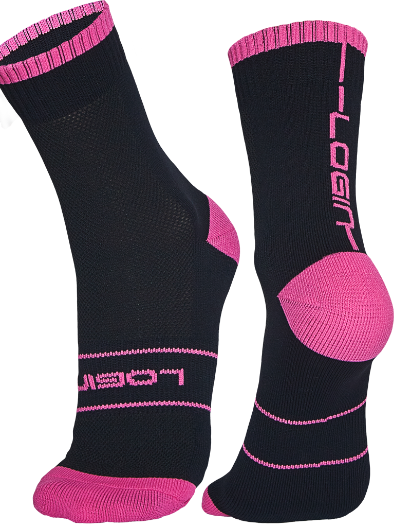 Black/Pink Socks