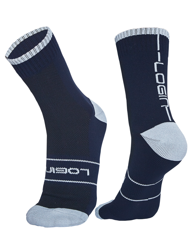 Navy/Grey Socks