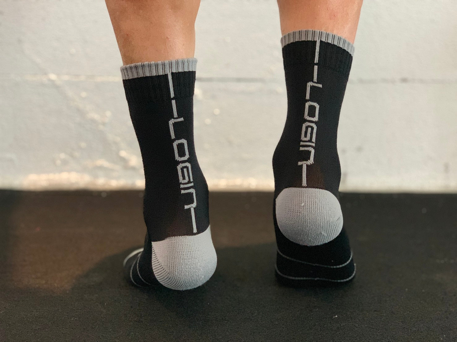 Black/Grey Socks
