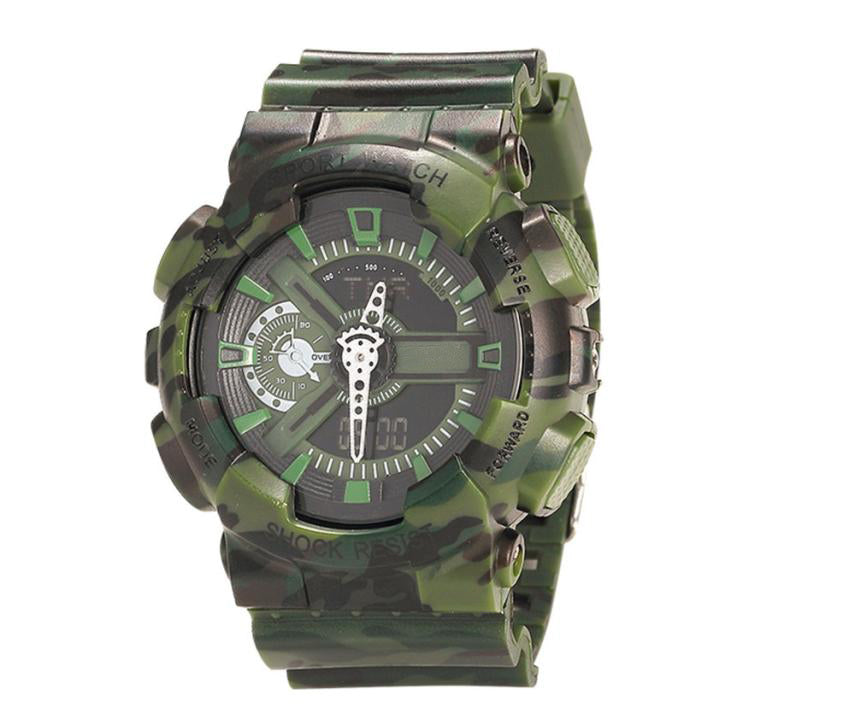 $50 Watches - Green Camouflage Watch Waterproof