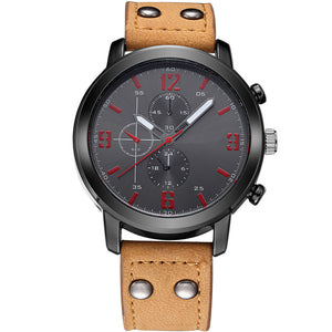50 Dollar Watches - The Nightcrawler Black on Tan