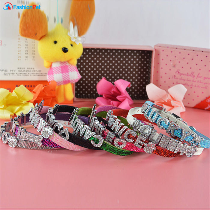 Personalized Pet Collar with Free Letters Charms