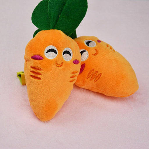 Carrots Pet Chew Squeaker Toy