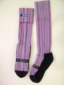 Sublimated Knee High Fold Over Socks