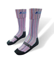 Load image into Gallery viewer, Sublimated Knee High Fold Over Socks