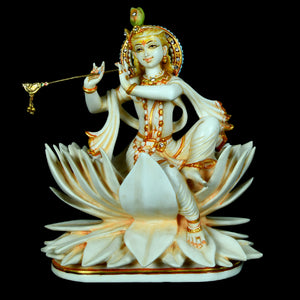 Marble Dust Lotus Krishna