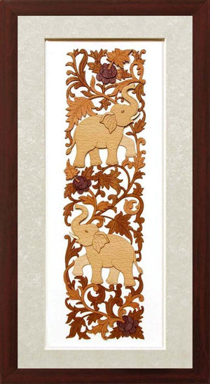 Wh 10x19 Two Deco Elephant