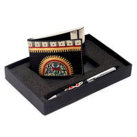 Wooden Pen & Card Holder