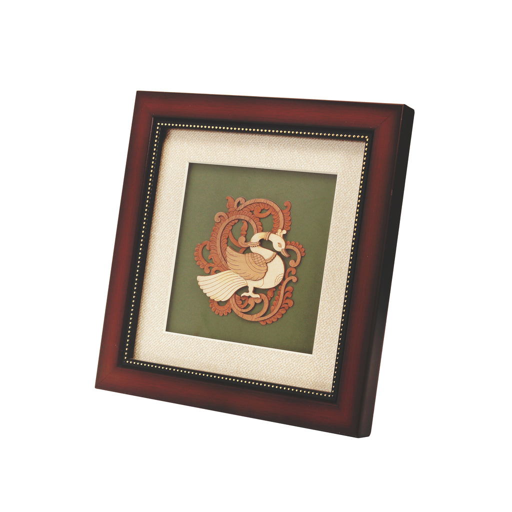 Deco Swan Wooden Carving Frame