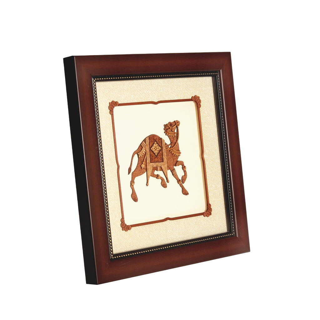 Camel Wooden Carving Frame