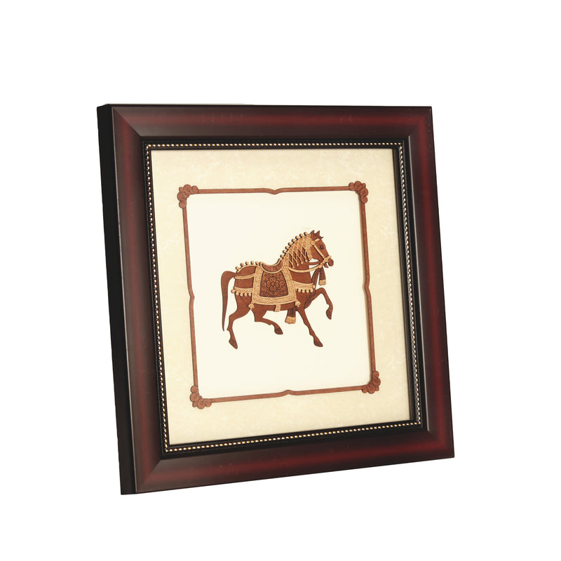 Horse Wooden Carving Frame