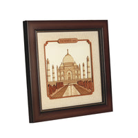 Taj Mahal Wooden Carving Frame