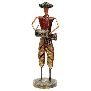 Ao 13In Iron Painted Rajasthani Safa Musician