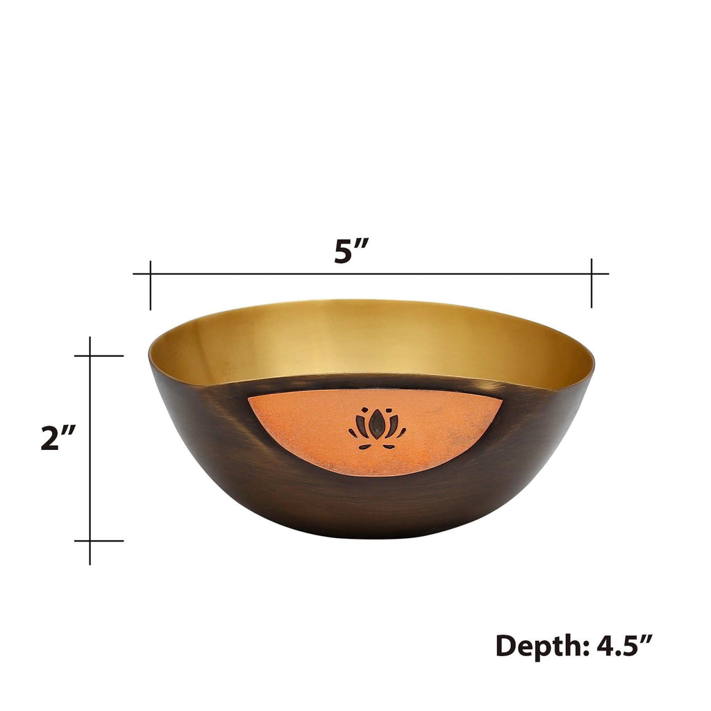 Ao  Firdaus Brass Nut Bowl