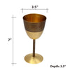 Brs Hammered Goblet Glass
