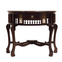 Wooden Console Table With Dhokra Art