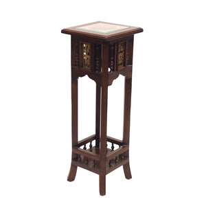 Wooden Side Table With Dhokra Art