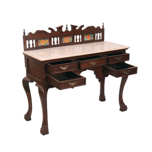 Wooden Study Table  With  Five Dhawer