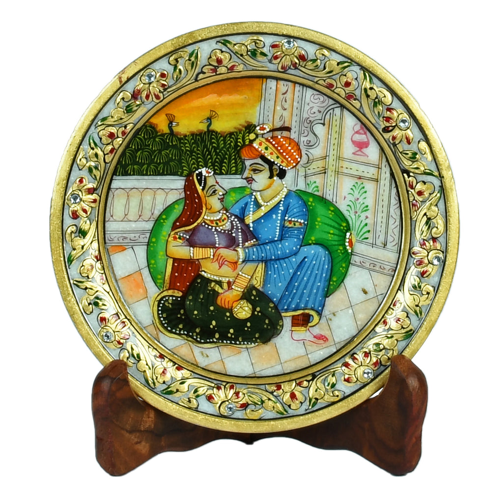 Marble Mughal Design Plate