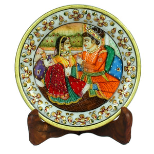 Marble Mughal Design Plate ragaarts.myshopify.com