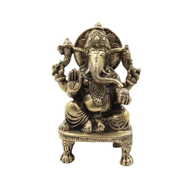 Ganesha Sitting on Chowki