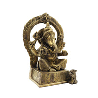 Ganesha Sitting on Base With Prabhavali