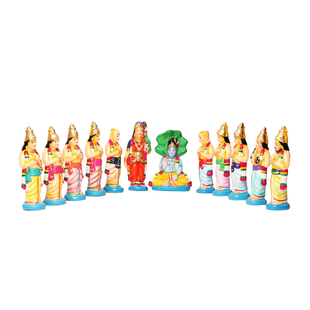 Aalhwar Set Clay Dolls