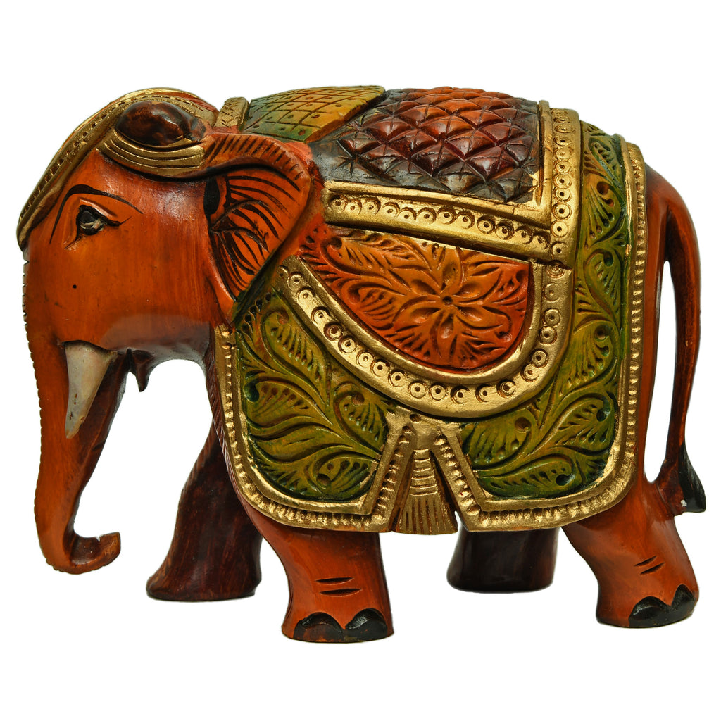 Carved & Painted Elephant