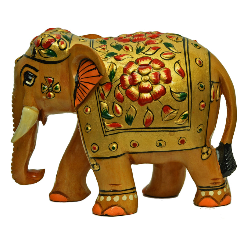 Elephant With Embossed Painting
