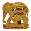 Carved Elephant With Inlay Work