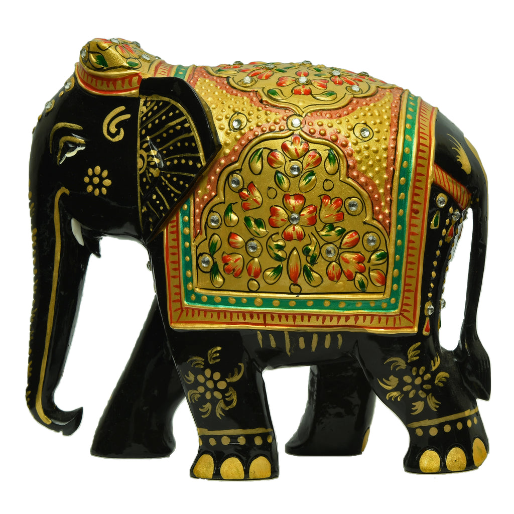 Elephant With Amboj Painting & Stone Work