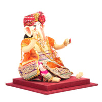 Pagdi Ganesh Sitting On Base