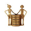 Tribal Man And Woman Pen Stand