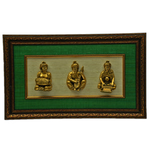 Brass Statues with Frame