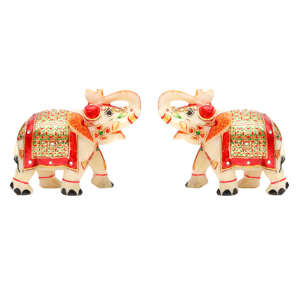 Mp 4in Elephant Pair gold painted T/U ragaarts.myshopify.com