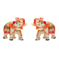 Mp 4in Elephant Pair gold painted T/U