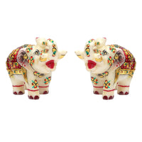 Mp 2.5 Elephant Pair gold painted T/U
