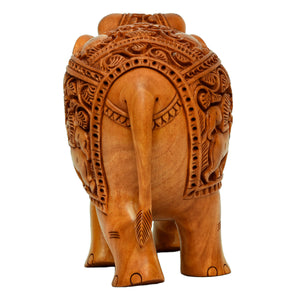 Wooden Carving Elephant ragaarts.myshopify.com