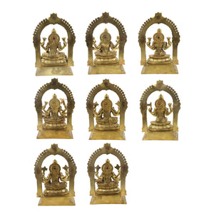 Bronze Sitting Ashta Lakshmi With Arch