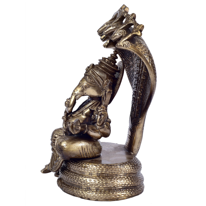 Ganesha Sitting On Snake