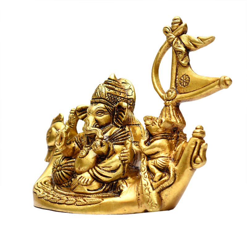 Brass Ganesha sitting on Duck