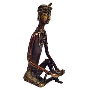 Bastar Tribal Man Sitting
