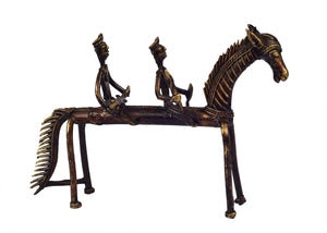 Bastar Horse with 2 Riders ragaarts.myshopify.com