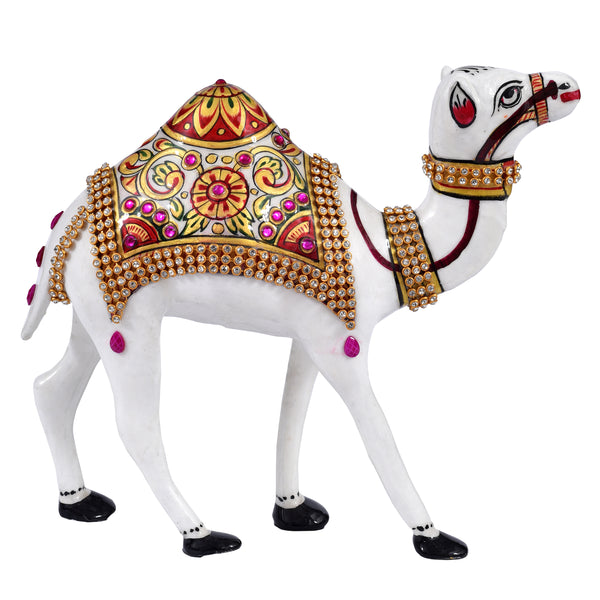 Metal painting Camel with stone work