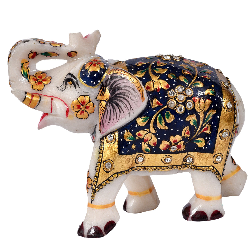 Marble Hand Painted Elephant ragaarts.myshopify.com