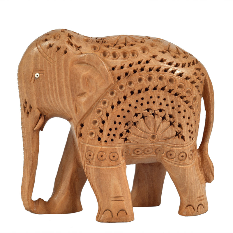 Elephant with Star carving ragaarts.myshopify.com