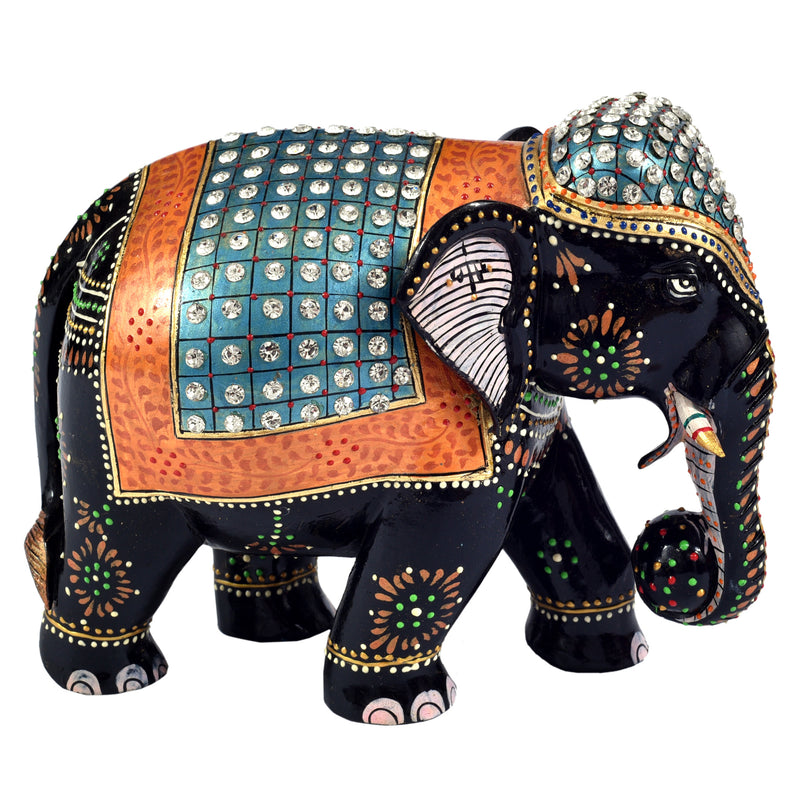 Elephant with stone work ragaarts.myshopify.com